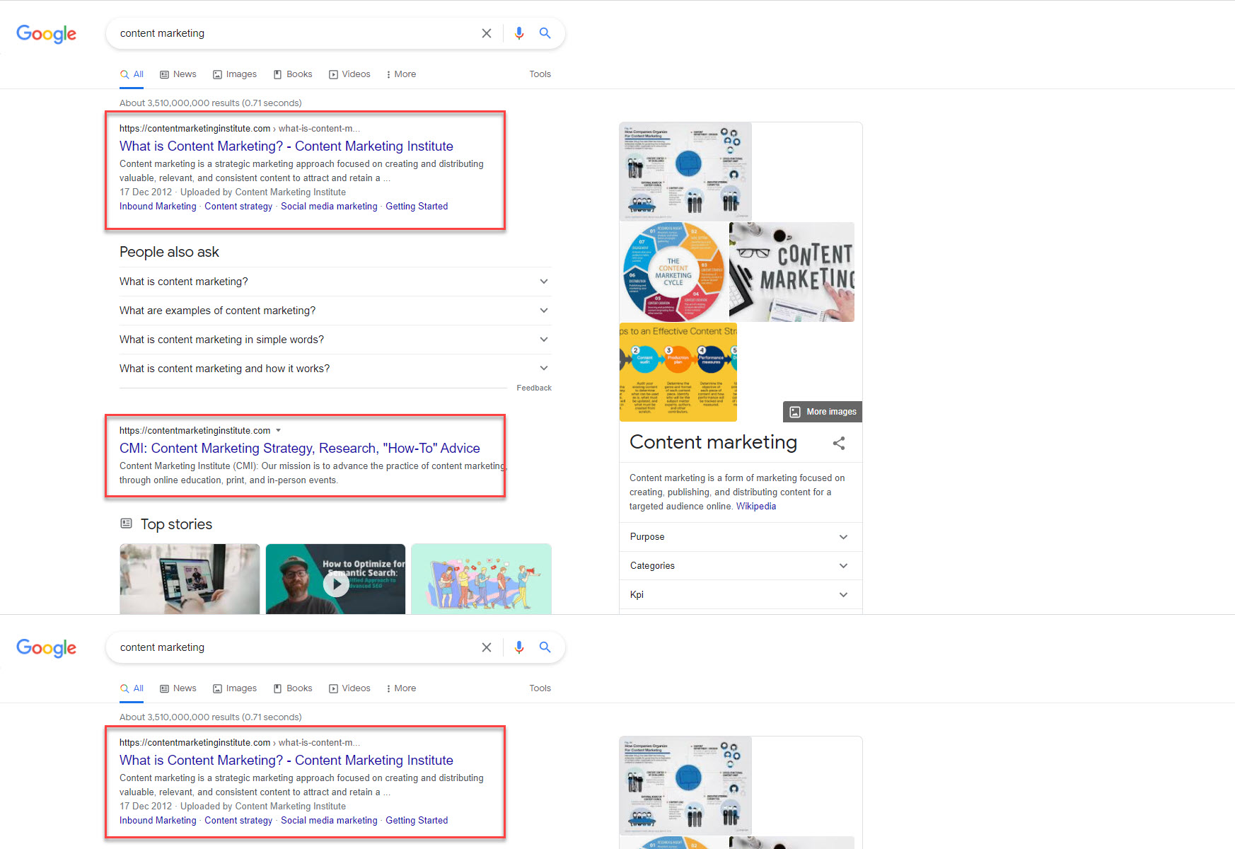 search query content marketing