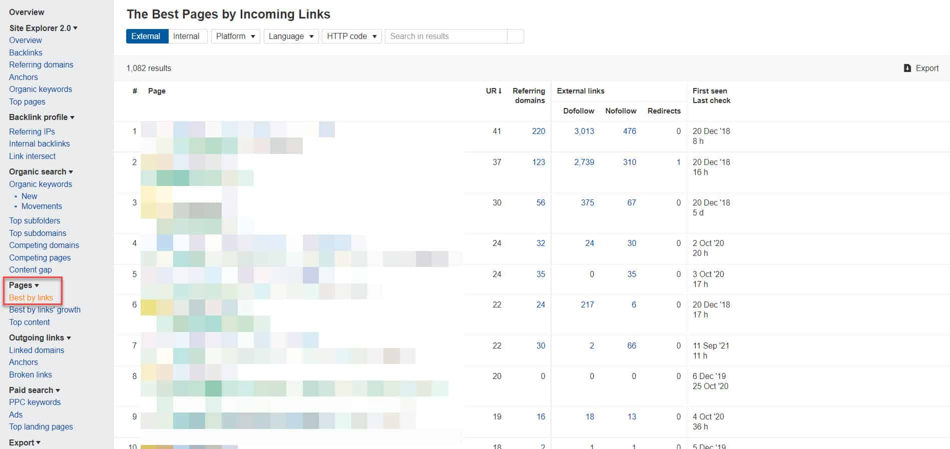 ahrefs best pages by incoming links1